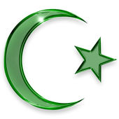 Emblem of islam — Stock Photo