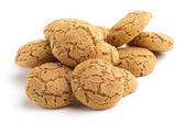 Pilha de biscoitos isolado no fundo branco — Foto Stock