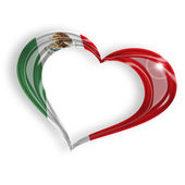 Heart with mexican flag colors — Stock Photo