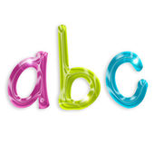 цветные буквы алфавита, изолированные на белом фоне — Стоковое фото