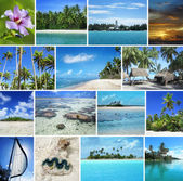 Set of unspoiled tropical islands and seascape — Stock Photo