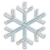 Iced snowflake illustration isolated on white background — Stock Photo