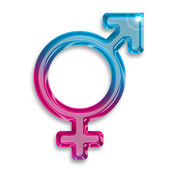 Transgender identity symbol isolated on white background — Stock Photo