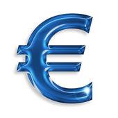 Símbolo del euro aislado sobre fondo blanco — Foto de Stock