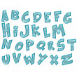 Transparent alphabet, capital letters on white background — Stock Photo