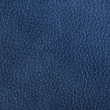 Close up of a blue leather texture — Stock Photo