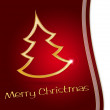 Stylized christmas tree on red and white background — Stock Photo