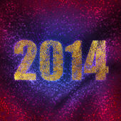 New year's number on background of rainbow glitter — Stock Photo