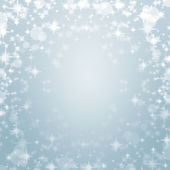 Elegant sky blue christmas background — Stock Photo