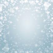 Elegant sky blue christmas background — Stock Photo