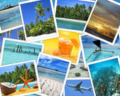 Snapshots of tropical destinations — Stock Photo