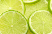 Close up of slices of fresh lime — Stock Photo