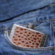 Royalty-Free Stock Photo: A flask in the pocket