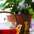Tea in the tea-pot - Stockfoto