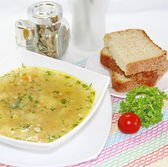 Delicious meat soup — Stock Photo