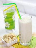 Banana milkshake — Stock Photo