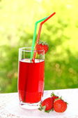 Cocktail with strawberry — Stock Photo