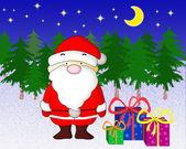 Weihnachtsmann mit Geschenken. — Stockfoto