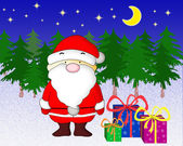 Papai Noel com presentes. — Fotografia Stock