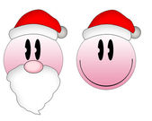 Christmas emoticons — Stock Photo