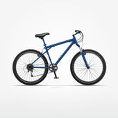 Vector Realistic Isolated Bicycle — 图库矢量图片