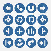 Vector Set of Arrows Icons — Stock Vector