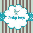 Baby Boy Arrival Card — Stockvektor