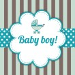 Baby Boy Arrival Card — Vector de stock