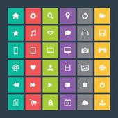 Conjunto de iconos, diseño plano — Vector de stock