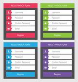 Registration form, flat design — Stock Vector
