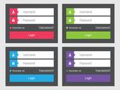 Login form flat design — Stock Vector