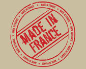 Grunge stamp made in France — Vettoriale Stock