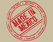 Sello grunge made in méxico — Vector de stock