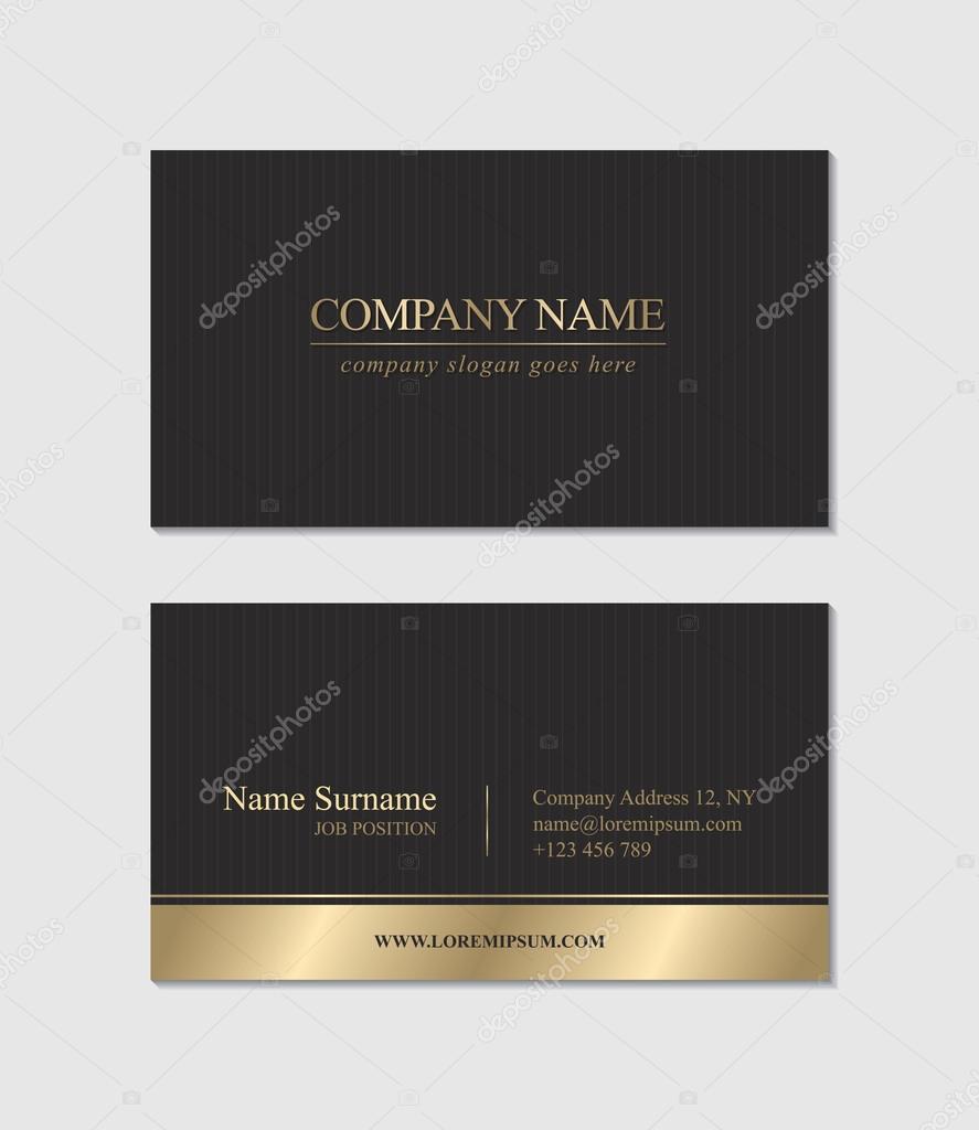 Elegant Business Card — Stock Vector