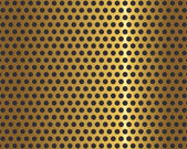 Golden metal grid — Stockvector