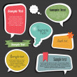 Scrapbook speech bubbles text box — Stock Vector