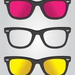 Set of retro black sunglasses — Stock Vector #30388443