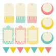 Set of tags — Stock Vector