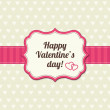 Valentines day vintage card — Stock Vector #30398721