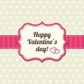 Valentines day vintage card — Stock Vector