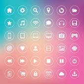 Set of icons on colorful background — Stock Vector