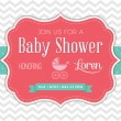 Baby Shower Invitation — Vettoriali Stock