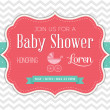 Stok Vektör: Baby Shower Invitation