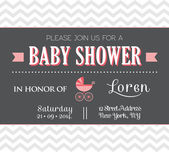 Baby Shower Invitation — Stock Vector