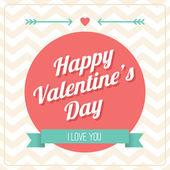 Glad Alla hjärtans dag-kort — Stockvektor