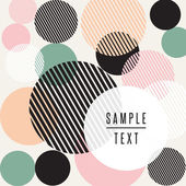Abstract circle design with text — Stock Vector
