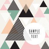Abstraktní trojúhelník design s textem — Stock vektor