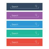 Uppsättning search barer, platt web designelement — Stockvektor