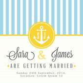 Nautical wedding invitation card — Stockvektor
