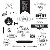 Hipster Style Vintage-Design-Elemente — Stockvektor